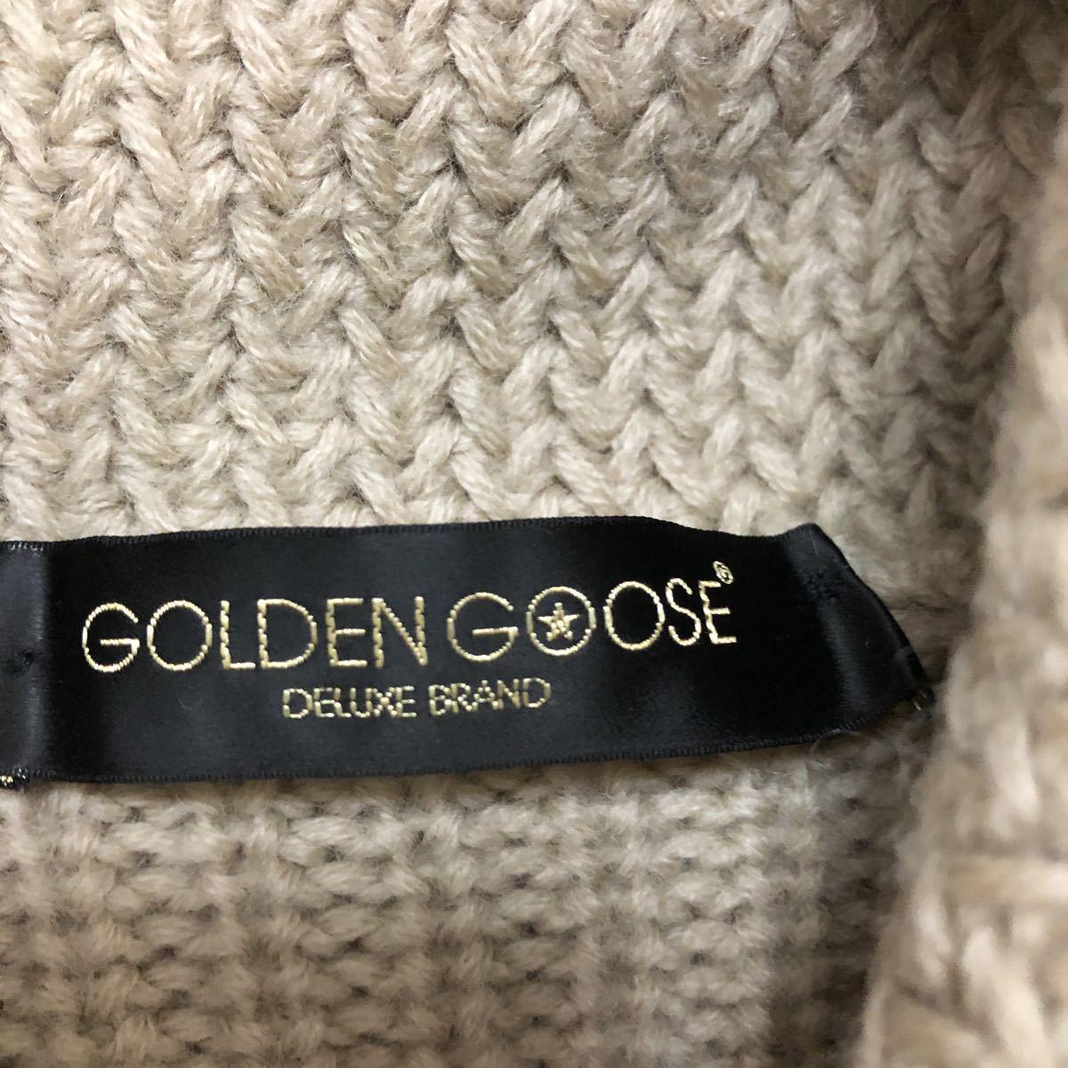 イタリア製ゴールデングースgolden gooseショールカラー コマンドニット ニットセーター xs_画像4