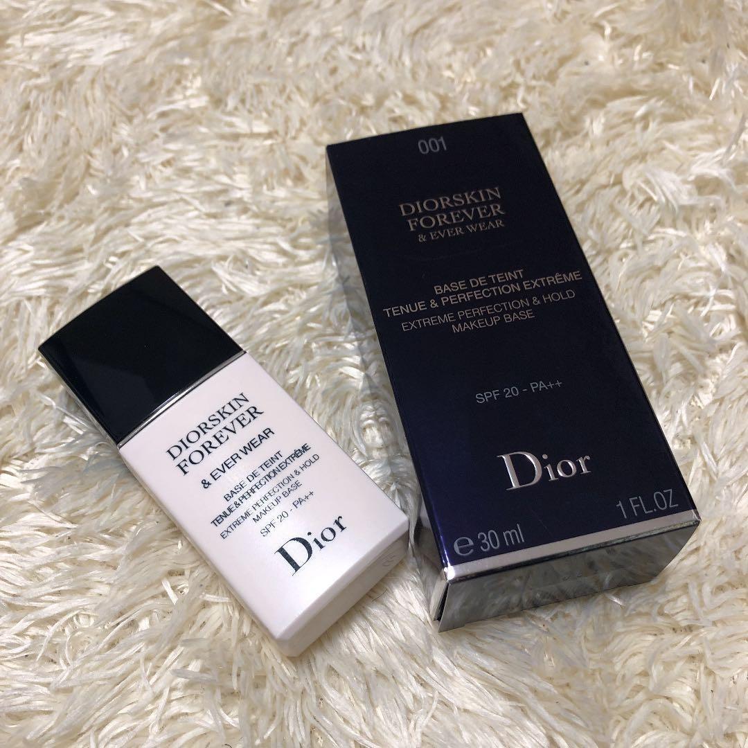new concept f61e7 78d7a 新品 未使用 Dior ディオールスキン フォーエヴァー&エヴァー ベース SPF20/PA++ #001 メイクアップ 毛穴 色ムラ 均一 UV  化粧下地