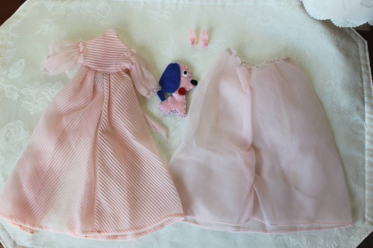 Barbie バービー ヴィンテージ Vintage BARBIE Outfit:Nighty Negligee Outfit 1959-61 #965(すべて揃っています。)_画像3