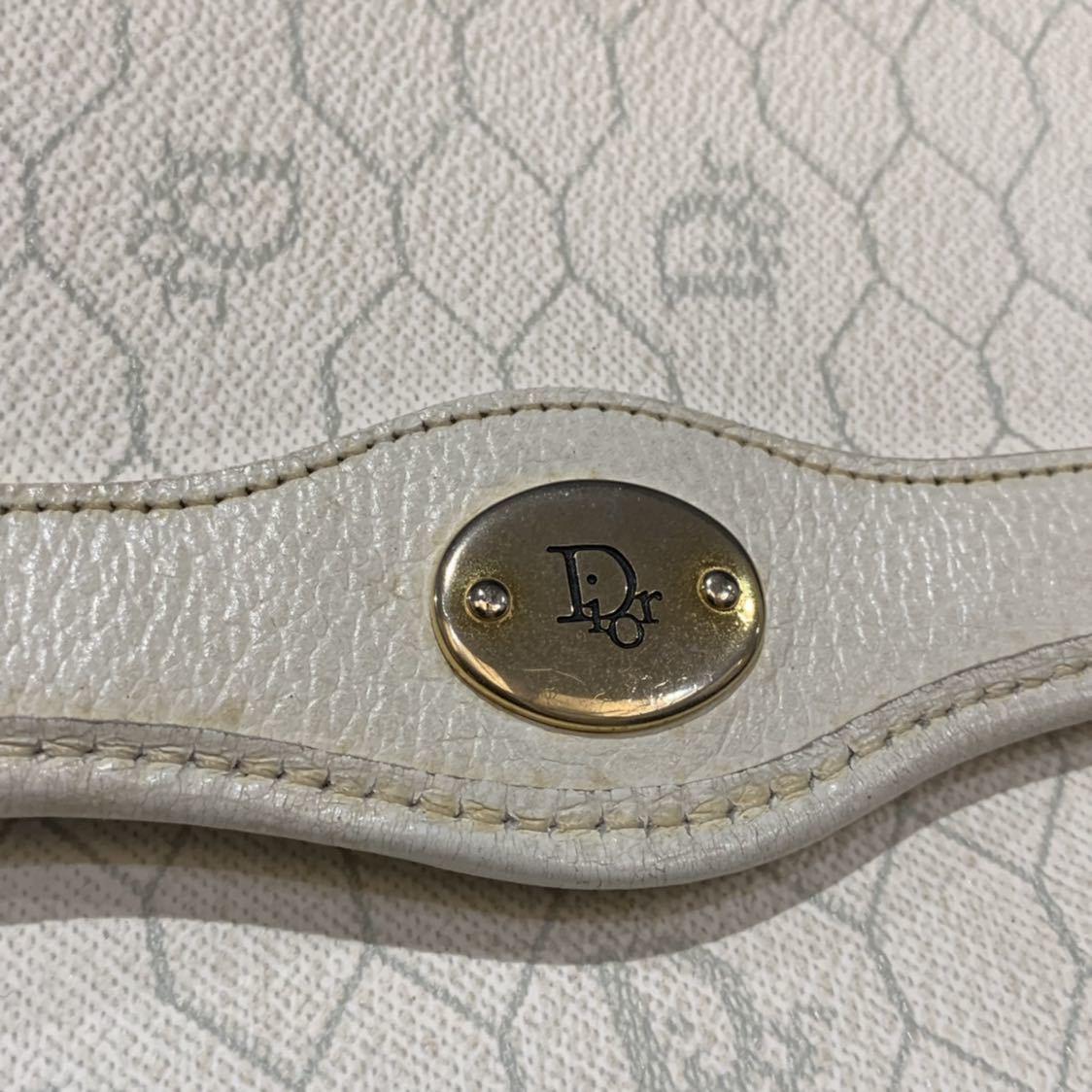 クリスチャンディオール Christian Dior チェーン 2WAY ショルダー クラッチバッグ トロッター キャンバス レザー ビンテージ オールド_画像3