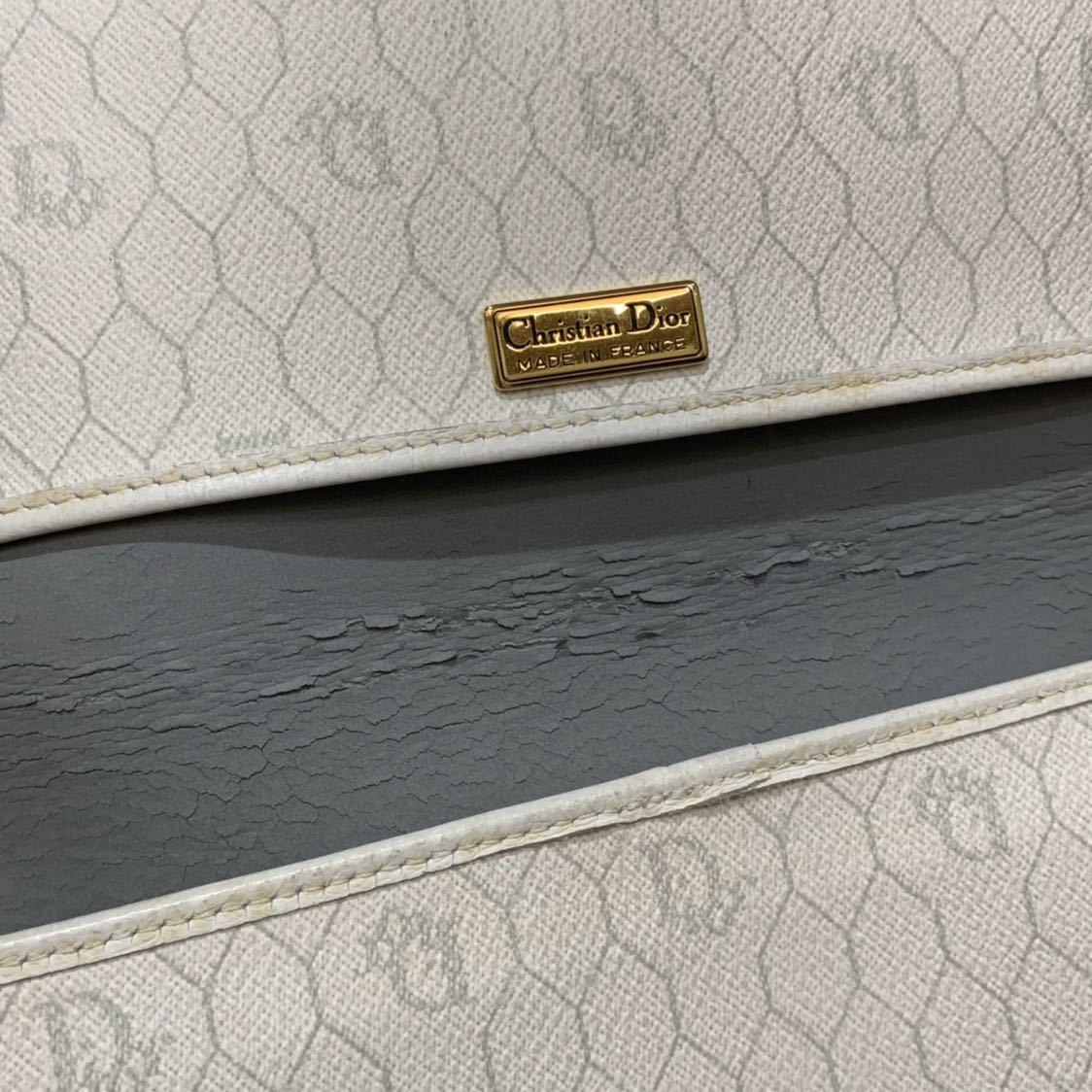 クリスチャンディオール Christian Dior チェーン 2WAY ショルダー クラッチバッグ トロッター キャンバス レザー ビンテージ オールド_画像6
