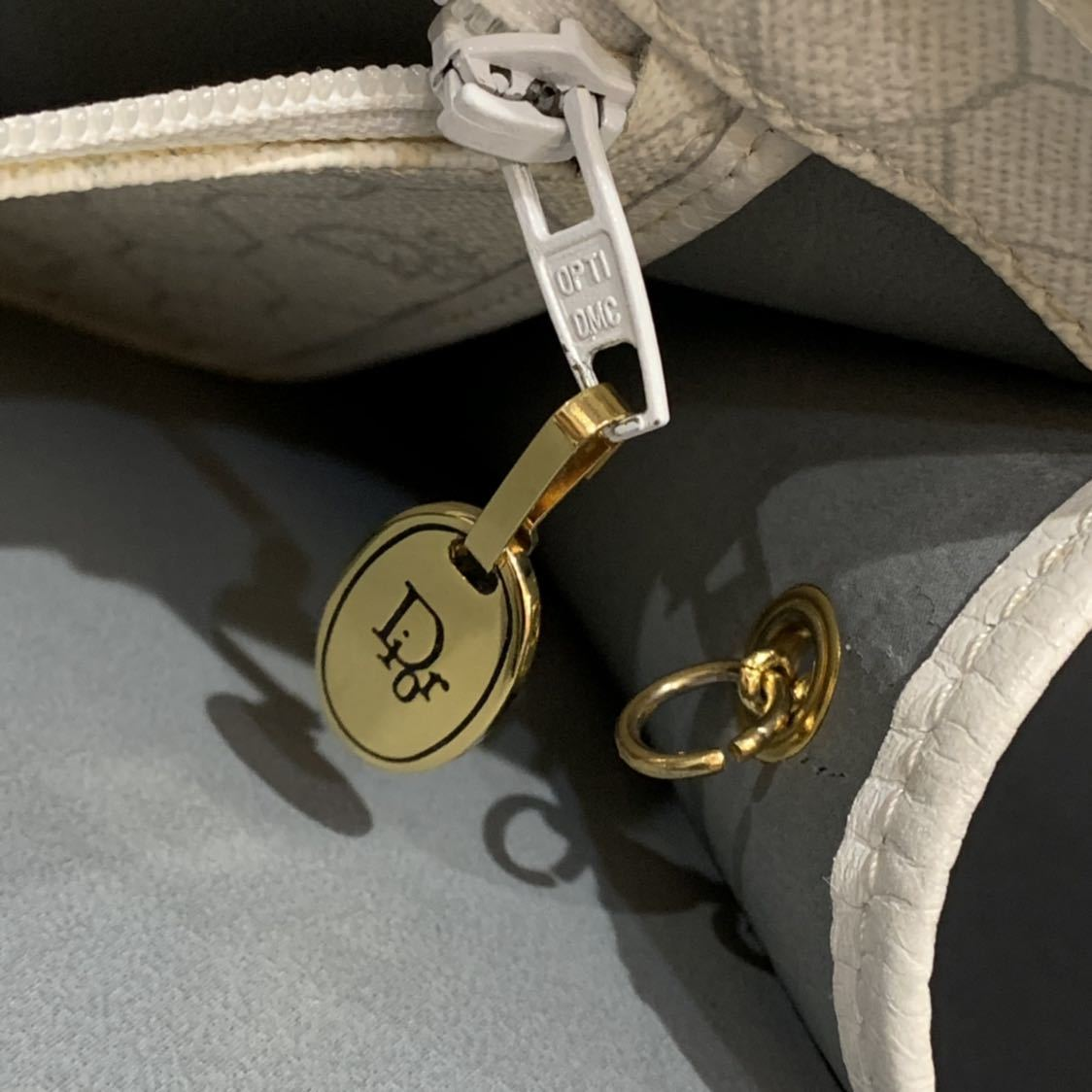 クリスチャンディオール Christian Dior チェーン 2WAY ショルダー クラッチバッグ トロッター キャンバス レザー ビンテージ オールド_画像8