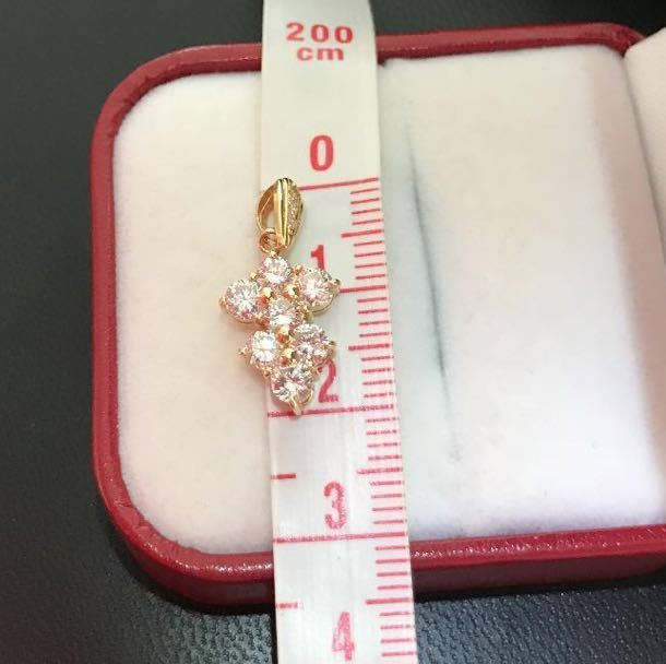K18ダイヤモンドペンダント 合計1.07ct ダイヤモンドネックレス イエローゴールド_画像3