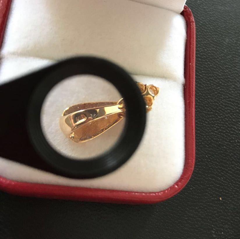 K18ダイヤモンドペンダント 合計1.07ct ダイヤモンドネックレス イエローゴールド_画像6