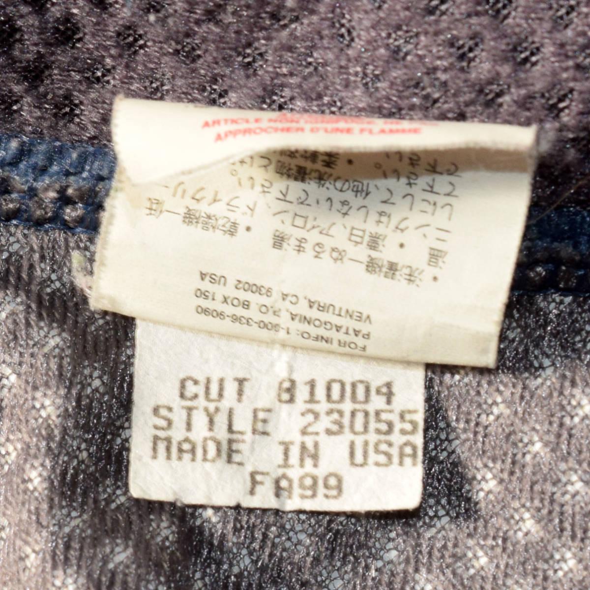 レア!送料無料!99年 USA製 パタゴニア メンズS 日本M フリース ボアパイル レトロX ジャケット レトロカーディガン 古着 ビンテージ_画像7