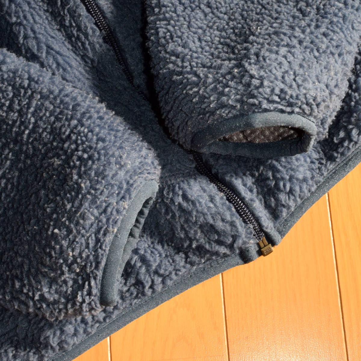 レア!送料無料!99年 USA製 パタゴニア メンズS 日本M フリース ボアパイル レトロX ジャケット レトロカーディガン 古着 ビンテージ_画像4