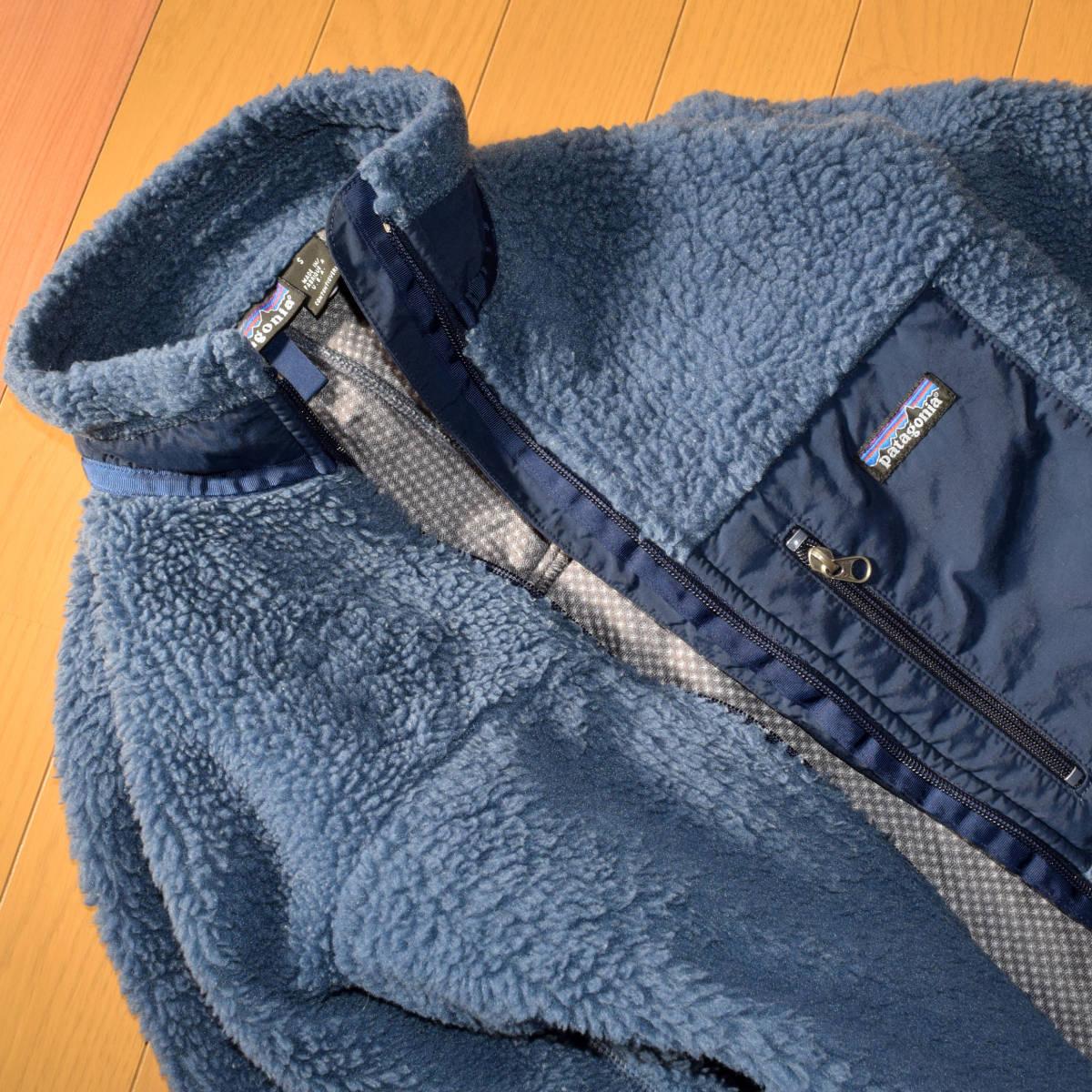 レア!送料無料!99年 USA製 パタゴニア メンズS 日本M フリース ボアパイル レトロX ジャケット レトロカーディガン 古着 ビンテージ_画像8