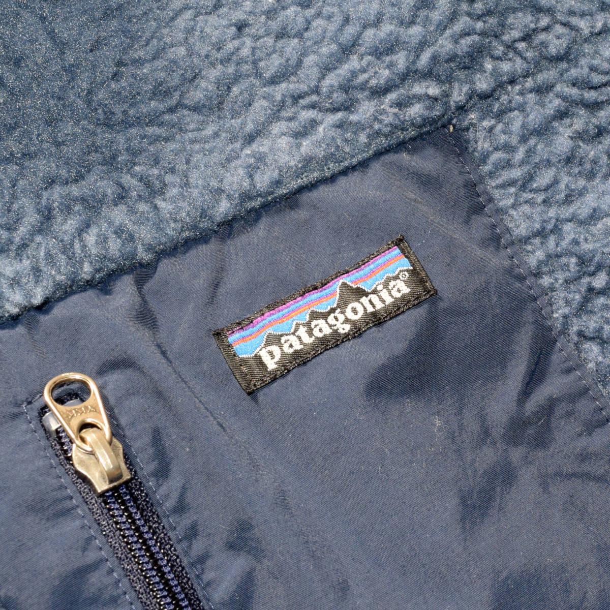 レア!送料無料!99年 USA製 パタゴニア メンズS 日本M フリース ボアパイル レトロX ジャケット レトロカーディガン 古着 ビンテージ_画像3