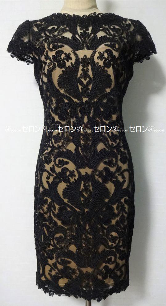 Tadashi Shoji タダシ ショージ 刺繍 レース パーティー 結婚式 演奏会 フォーマル 二次会