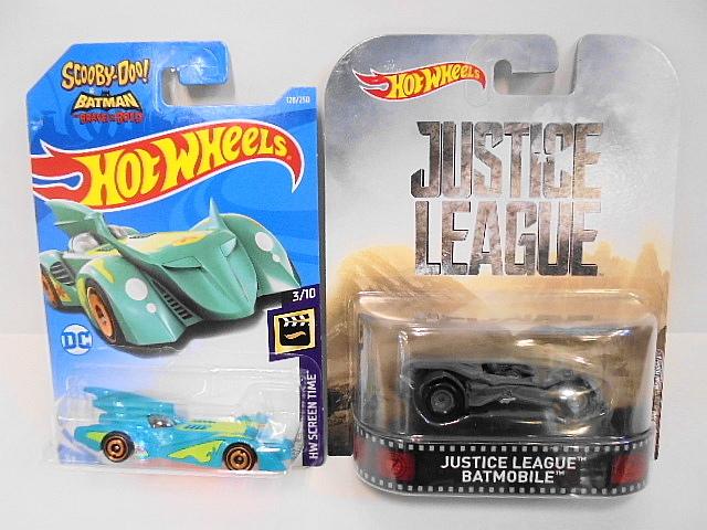 バットマン バットモービル Hotwheels ホットウィール ミニカー 2台セット スクービードゥー ジャスティスリーグ アメコミ_画像1