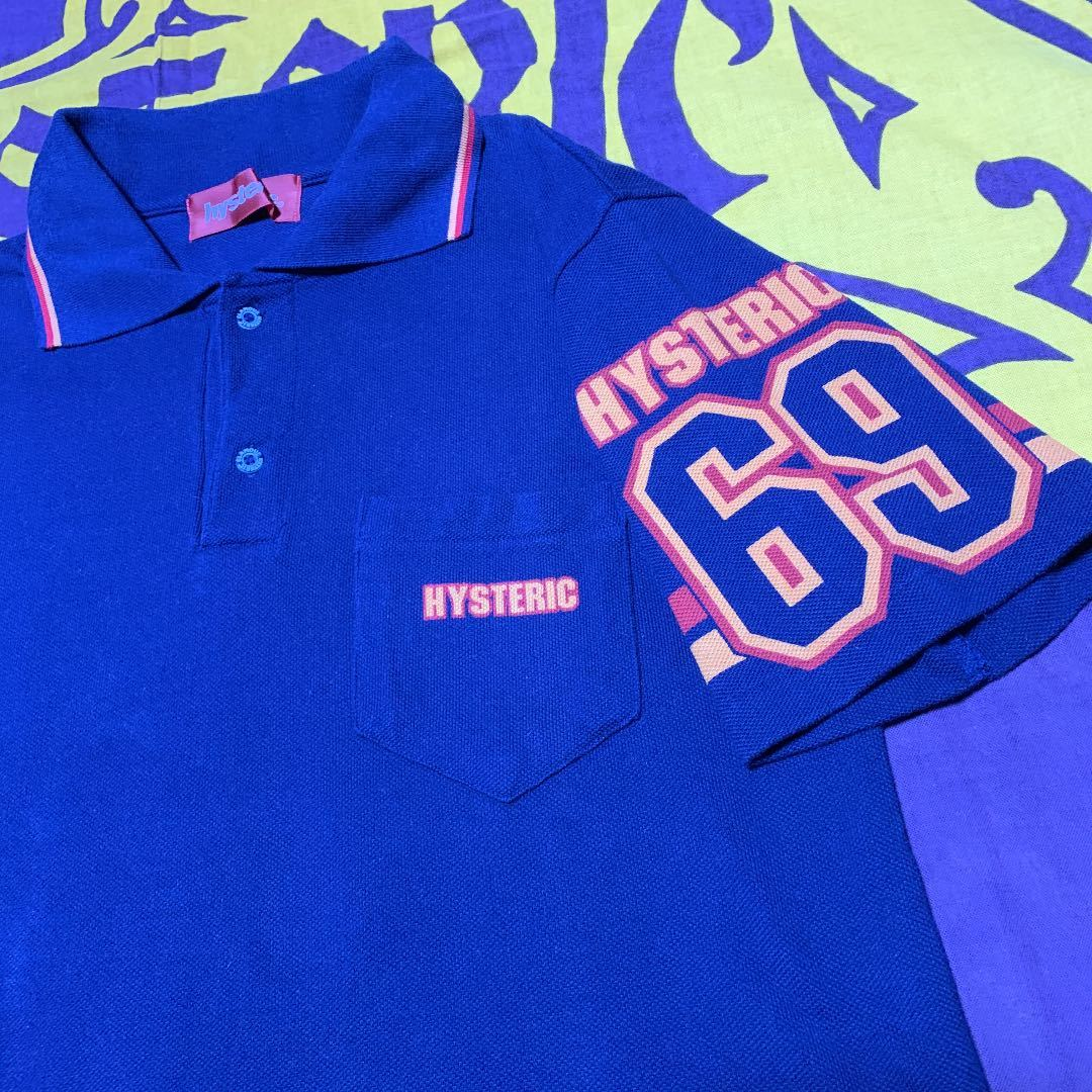 Hysteric glamour☆メンズ69ポロシャツ☆完売品!激レア!ヒステリックグラマーヒスミニオゾンHARE
