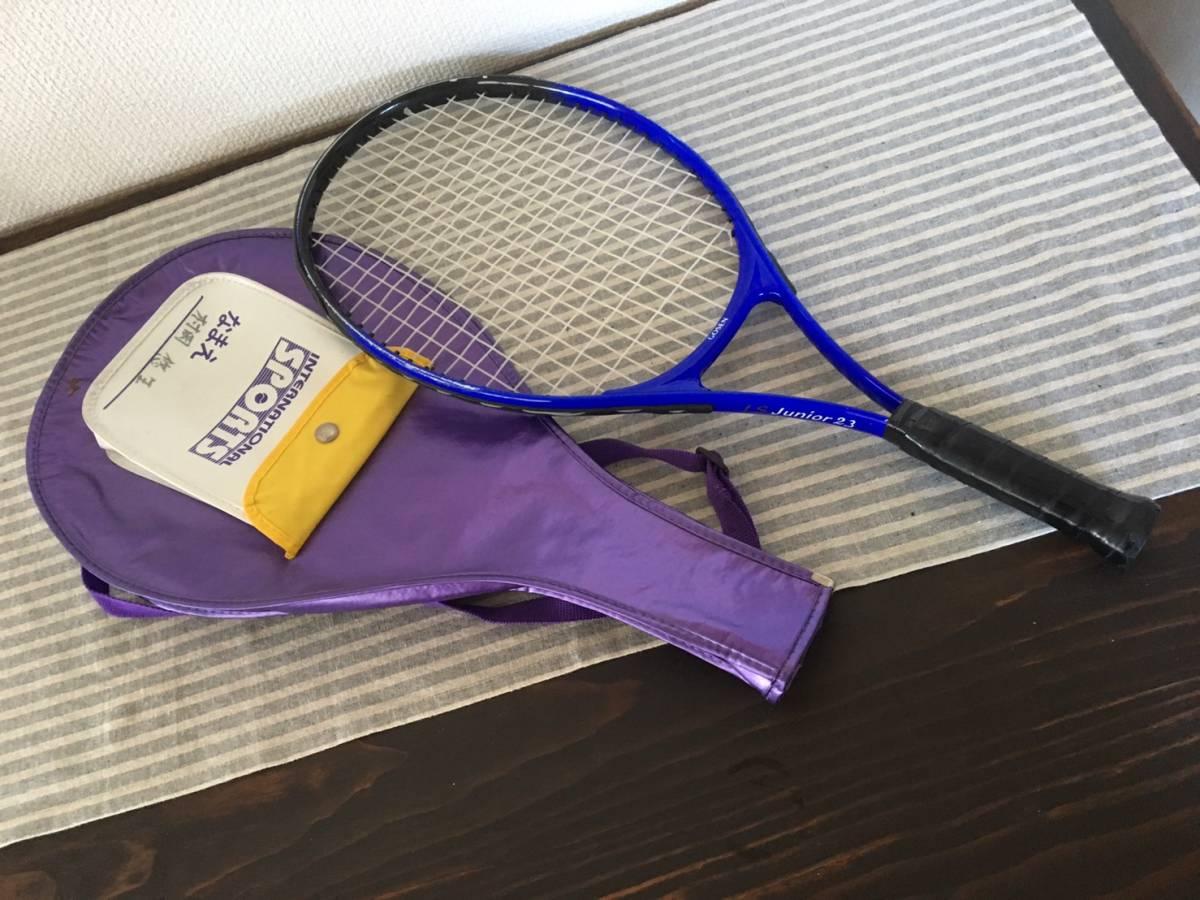 【中古品】 ★ GOSEN_ゴーセン ★ 軟式用テニスラケット LS Junior2.3 練習用 ケース有