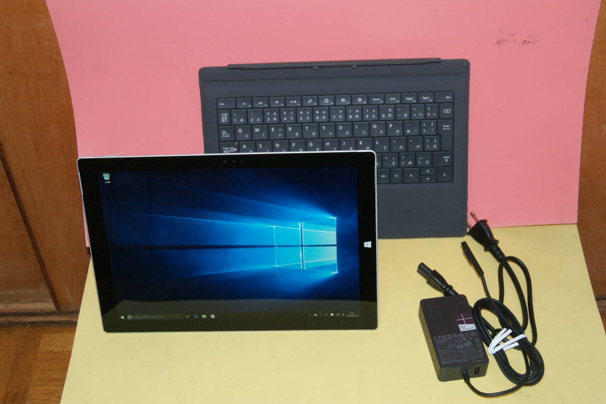 Microsoft Surface Pro 3 Core i5-4300U 1.90GHz メモリ 4GB SSD 128GB タッチパネル Windows10 office 純正タイプカバー付き_画像2