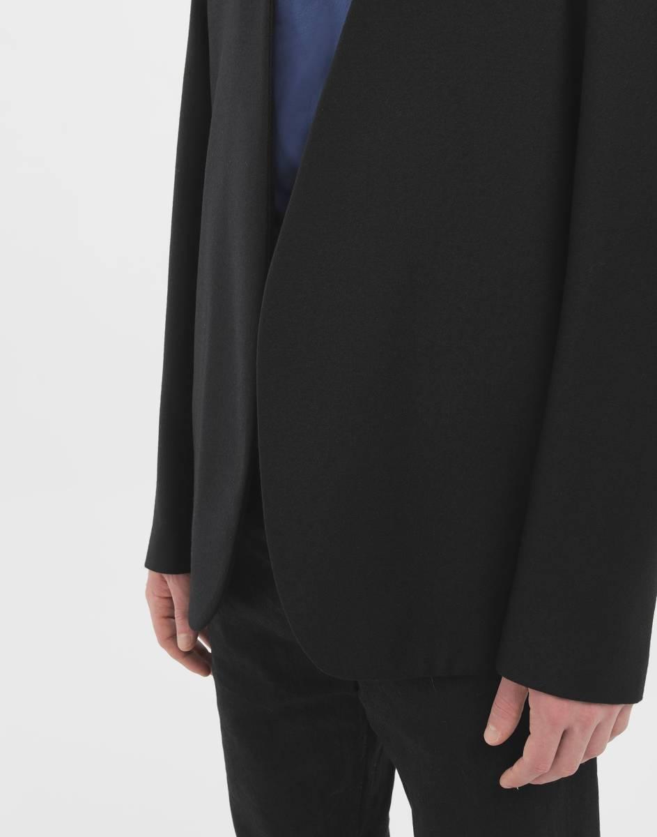 19AW新品46 メゾンマルジェラ ノーカラージャケット 今季 size 46 黒 S Maison Margiela 10 マルジェラ メンズ ブラック 今期 カーディガン_画像10
