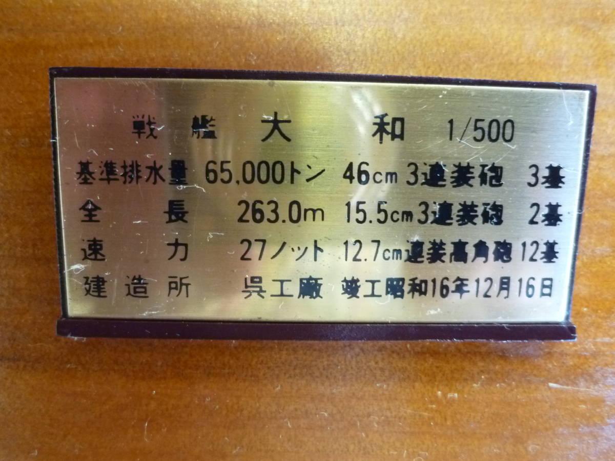 ㈱小西製作所製 戦艦 大和 1/500