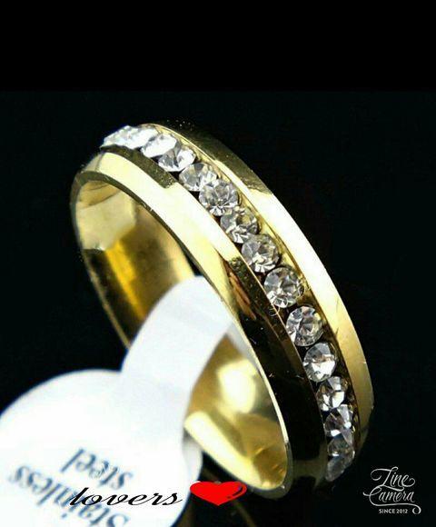 送料無料21号イエローゴールドスーパーCZダイヤモンドサージカルステンレスフルエタニティリング指輪ガールズボーイズレディースメンズ_画像1