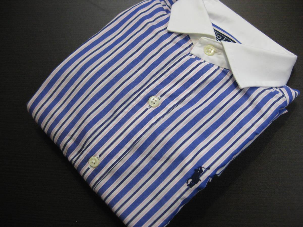 ■RalphlaurenラルフローレンPOLO■140cm男の子 ストライプデザイン長袖シャツ ㈱ナイガイ■送料無料