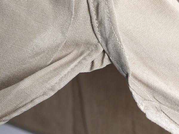 50's ビンテージ ★ Elbeco エルベコ マチ付き コットン ポプリン 長袖 ワーク シャツ ( メンズ 男性 M 程) 古着 ベージュ 無地 50年代_画像5
