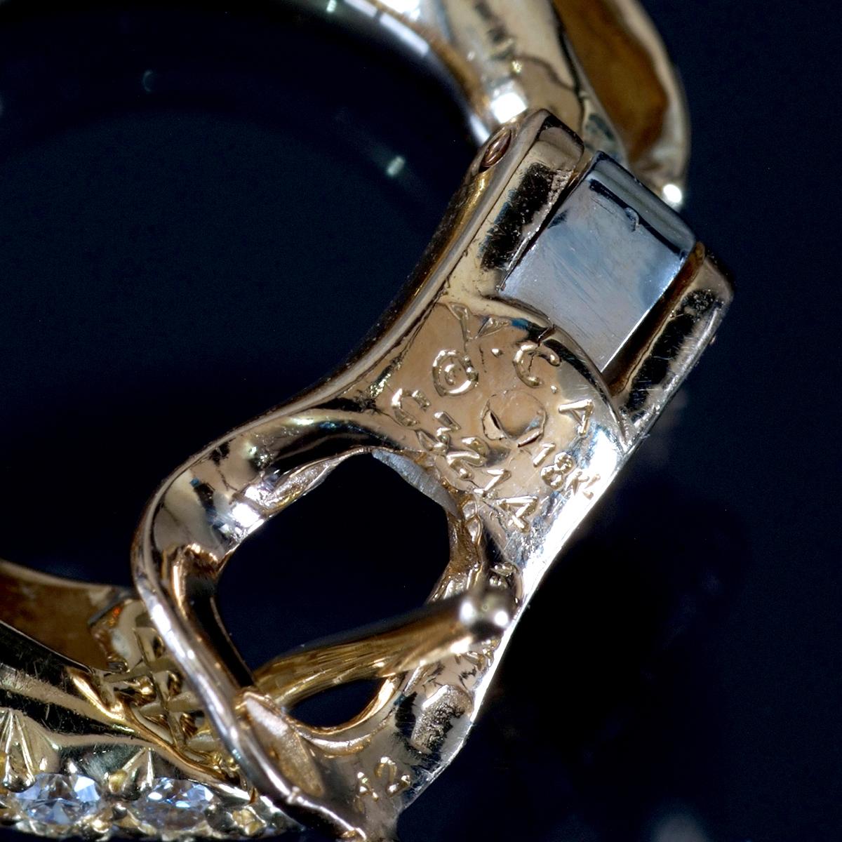 E9112【VAN CLEEF&ARPELS】ヴァンクリーフ&アーペル 絶品ダイヤ 最高級18金シングルピアス 重量4.38g 幅19.1×5.0mm 【買取&下取可能】_画像2