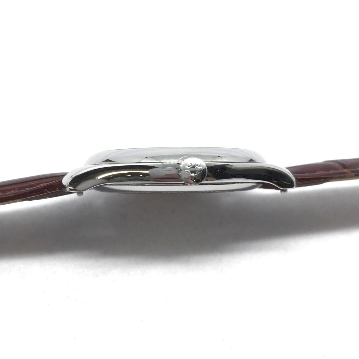 9-3525 【美品・新品社外ベルト】 ロンジン 腕時計 マスターコレクション L2.793.4.78.3 自動巻き デイト メンズ 純正革ベルト付属_画像4