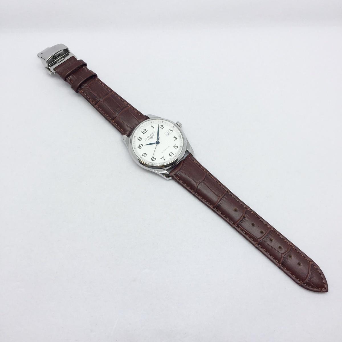 9-3525 【美品・新品社外ベルト】 ロンジン 腕時計 マスターコレクション L2.793.4.78.3 自動巻き デイト メンズ 純正革ベルト付属_画像3