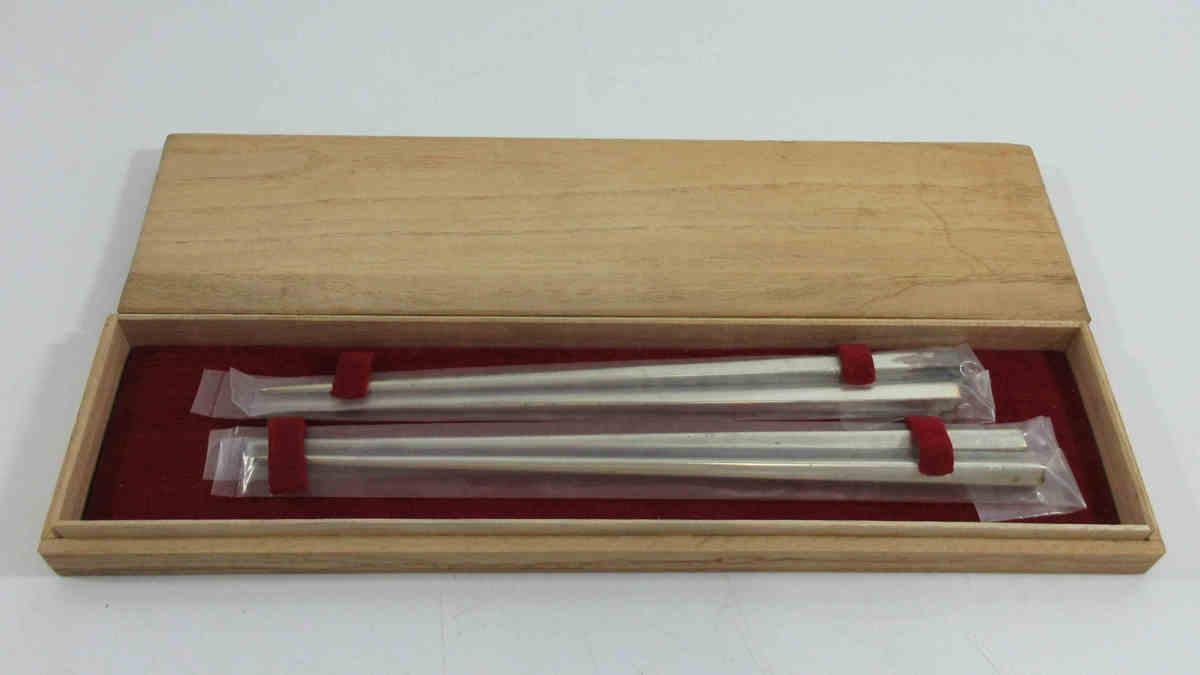 ■銀製 夫婦箸 45g シルバー ペア 箸 2本 e123