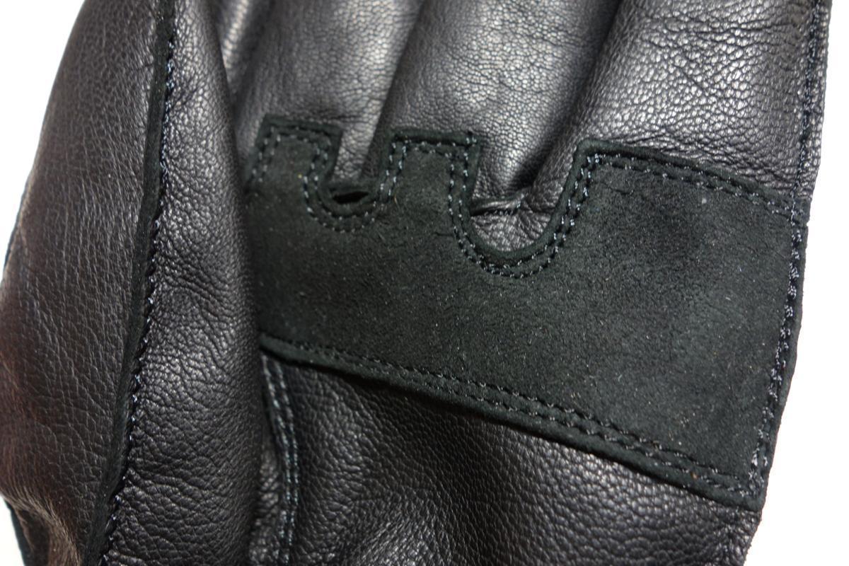送料無料■ レザーウインターグローブ (透湿防水フィルム入り) ブラック Lサイズ 本革防寒グローブ 新品 _画像5