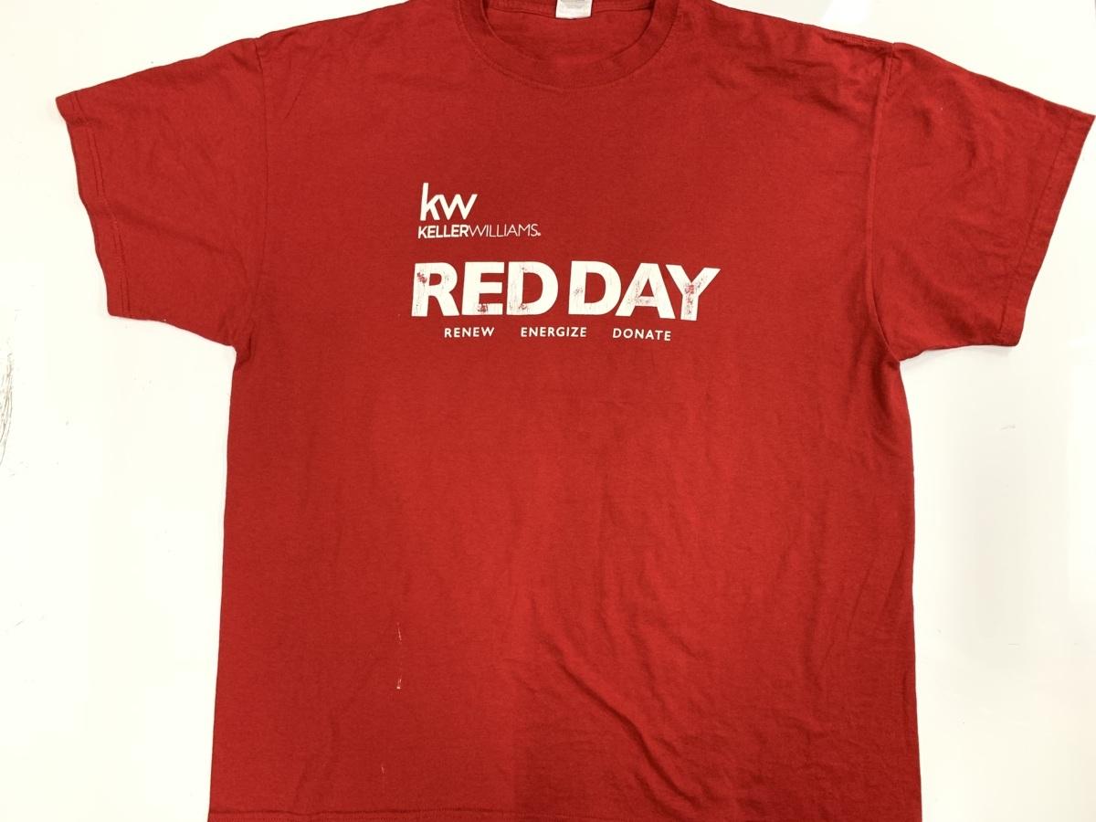 red day Tシャツ  アメリカ輸入品 USA古着卸 アメカジ サイズ 2XL BIG オーバーサイズ jerzeesタグ_画像1