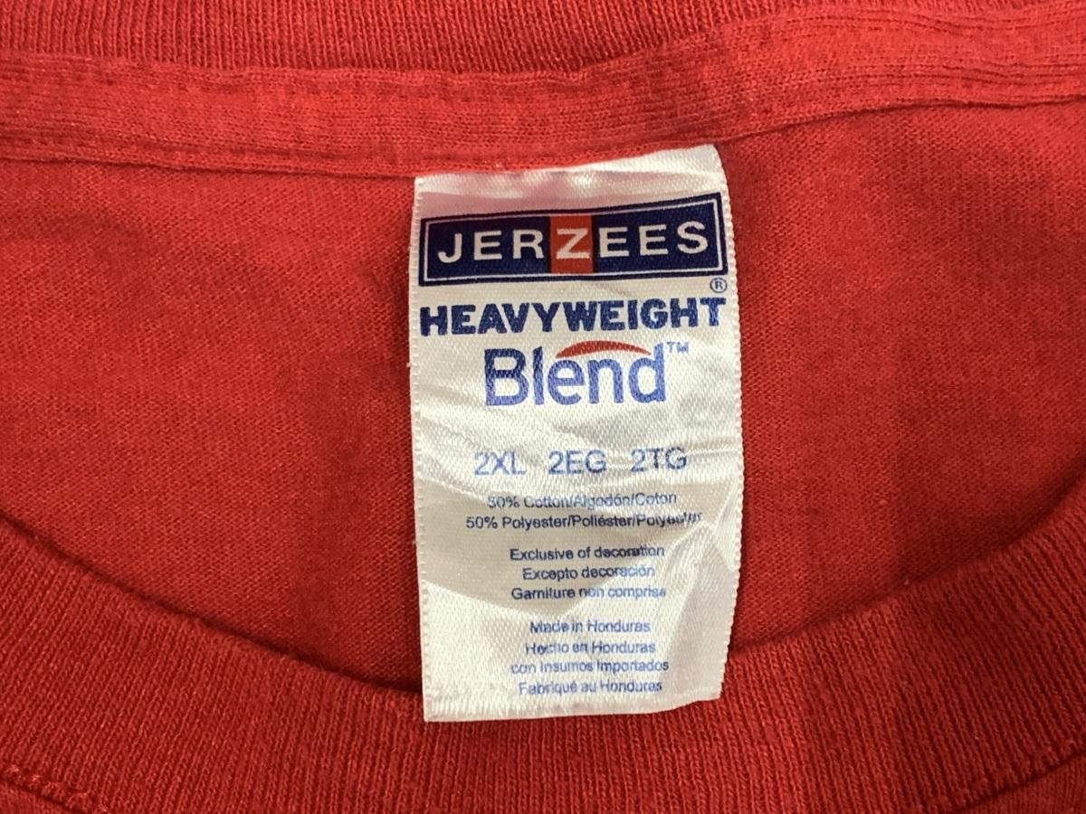 red day Tシャツ  アメリカ輸入品 USA古着卸 アメカジ サイズ 2XL BIG オーバーサイズ jerzeesタグ_画像4