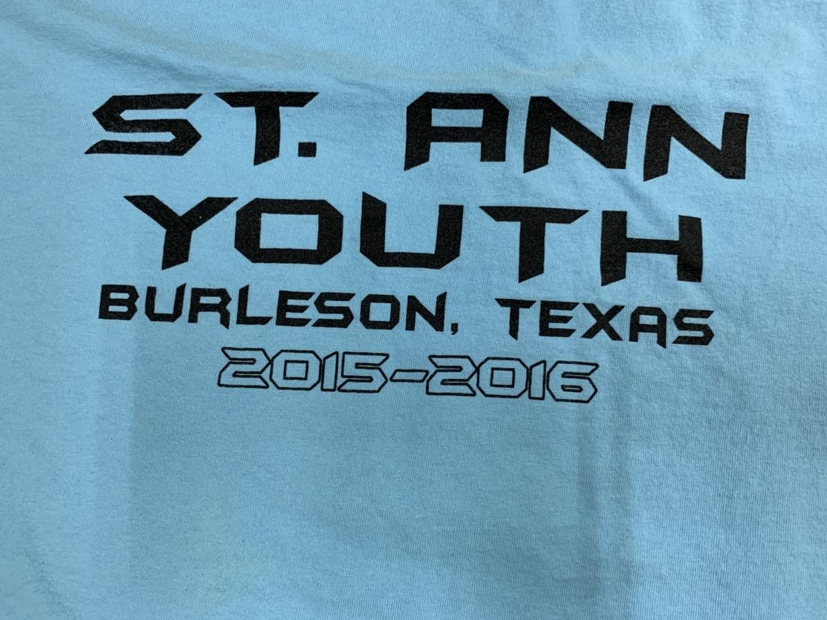 st.ann youth Tシャツ  アメリカ輸入品 USA古着卸 アメカジ サイズXL BIG オーバーサイズ gildanタグ _画像3