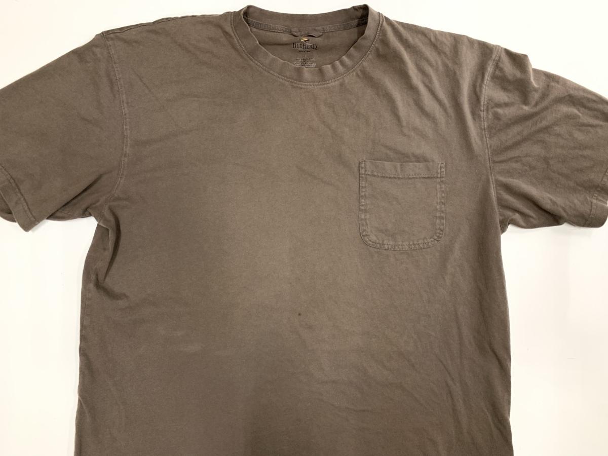 RED HEAD Tシャツ アメリカ輸入品 USA古着卸 アメカジ サイズ XL BIG オーバーサイズ 無地_画像1