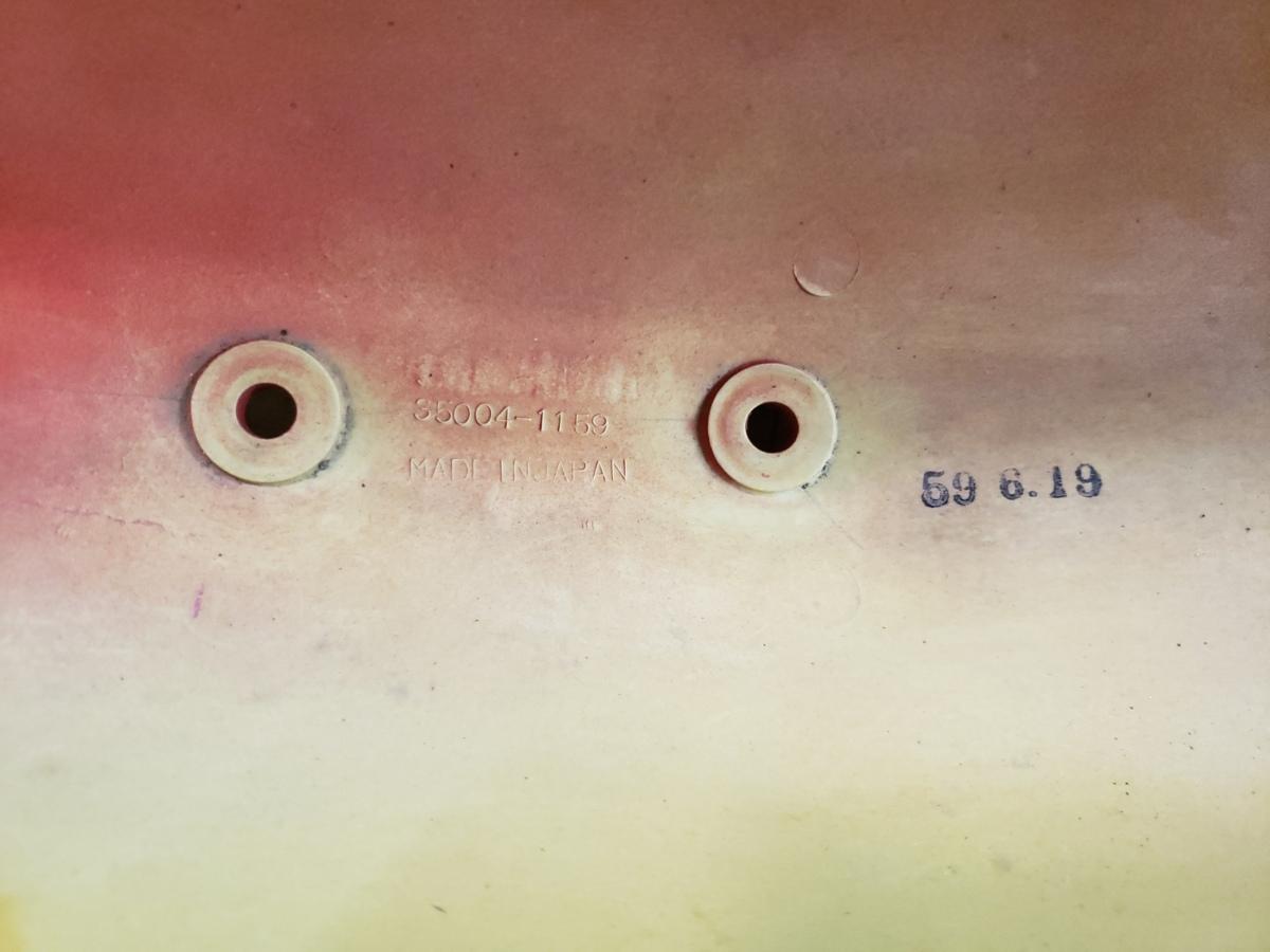 【訳あり特選中古】【絶版品】【当時物】【KAWASAKI 純正】【KR250】KR250A【フロント/フェンダー/赤/レッド】35004-1159_商品刻印画像です。