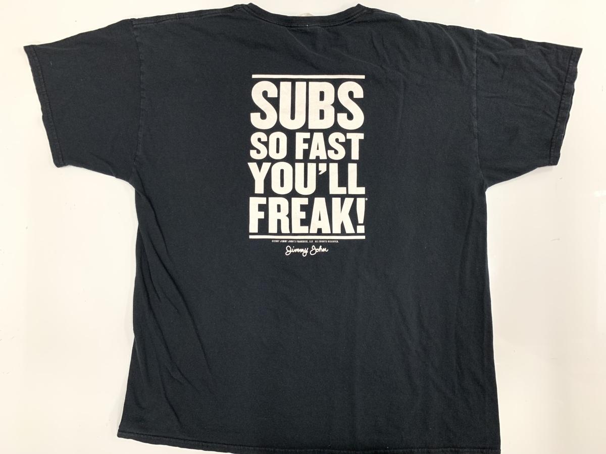 jimmy john's Tシャツ アメリカ輸入品 USA古着卸 アメカジ サイズ XL BIG オーバーサイズ furit of the loom タグ____バック