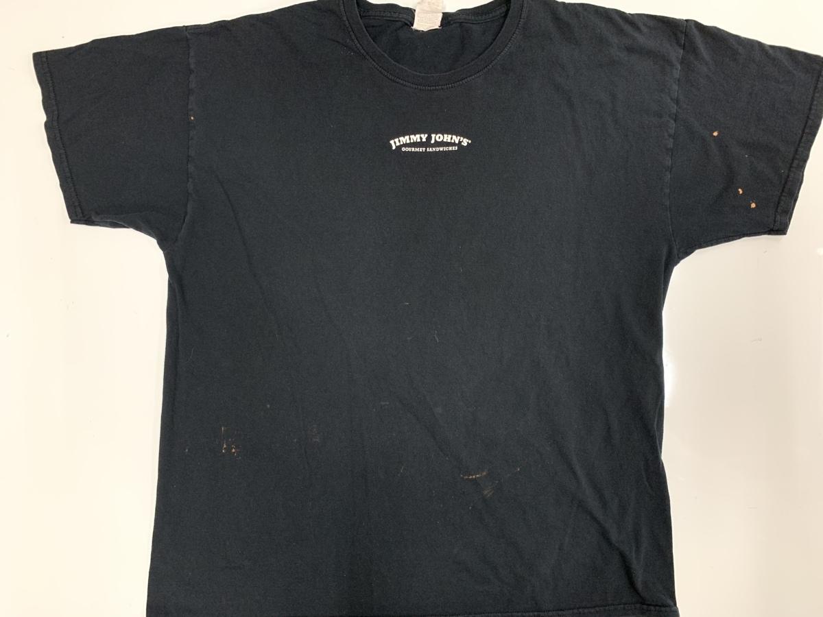 jimmy john's Tシャツ アメリカ輸入品 USA古着卸 アメカジ サイズ XL BIG オーバーサイズ furit of the loom タグ____フロント