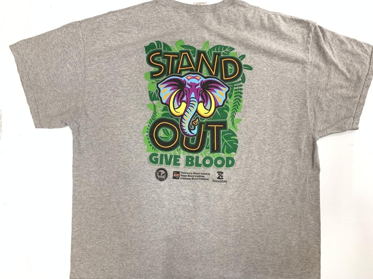 stand out Tシャツ アメリカ輸入品 USA古着卸 アメカジ サイズ 2XL BIG オーバーサイズ gildanタグ_バック