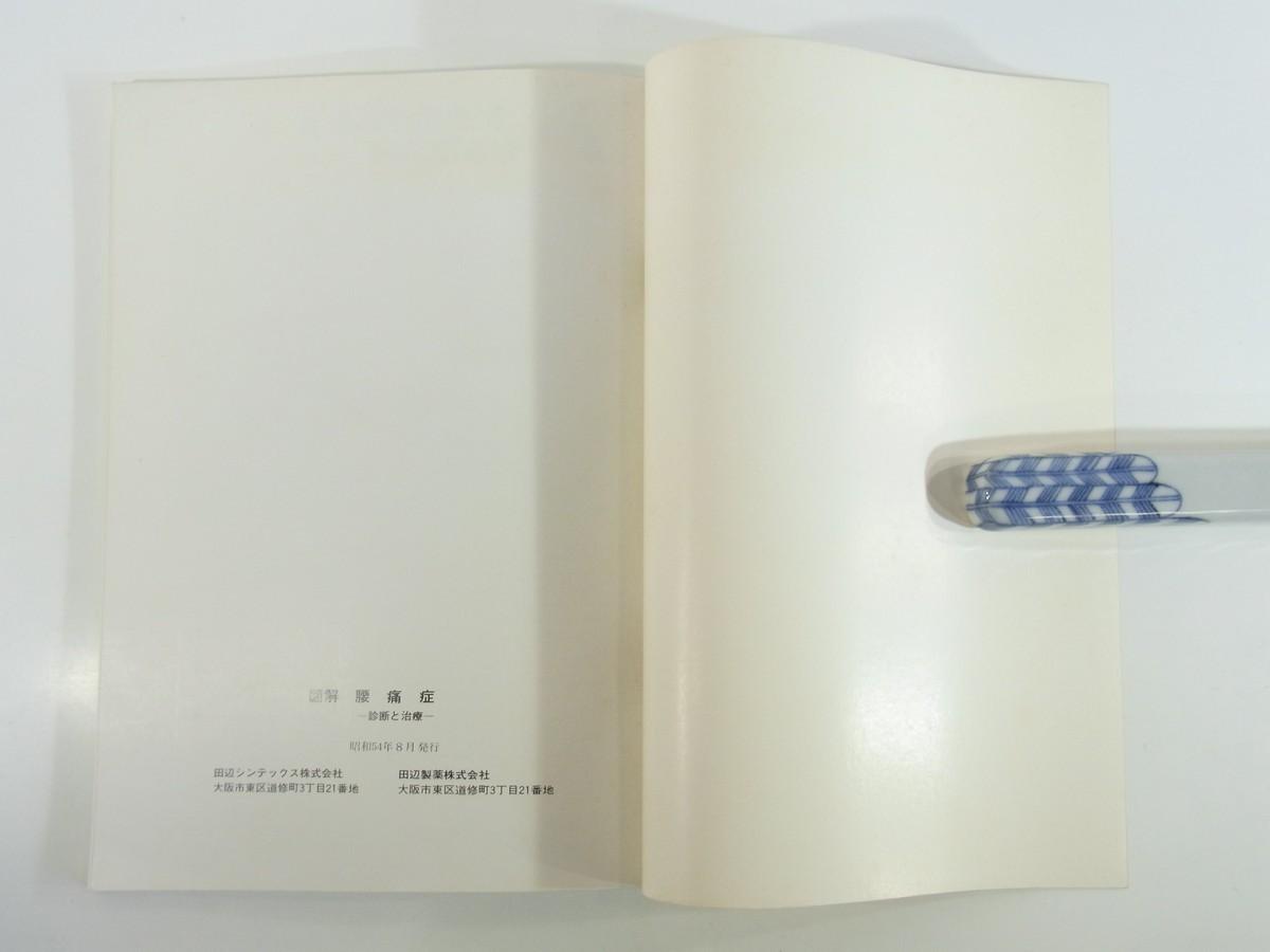 図解 腰痛症 診断と治療 石田肇 田辺製薬株式会社 1979 大型本 医学 医療 治療 病院 医者_画像10