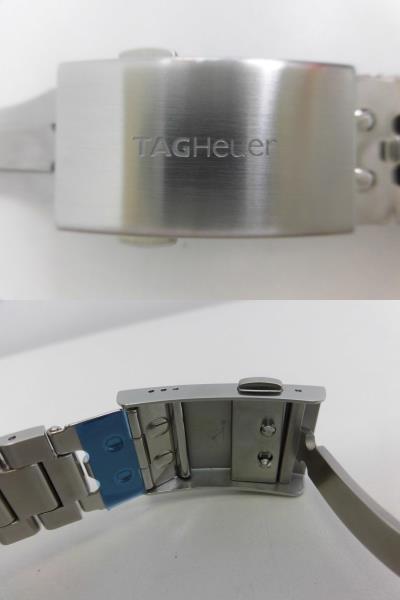 ●TAG HEUER タグホイヤー AQUARACER アクアレーサー アラーム メンズ クォーツ 腕時計 WAY111Z.BA0928 箱、余りコマ付き ★_画像7