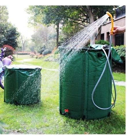 ★送料無料!98L 雨バレル 雨水貯蔵 タンク 庭 pvc 折りたたみ 集水器 レインバレル k2247_画像1