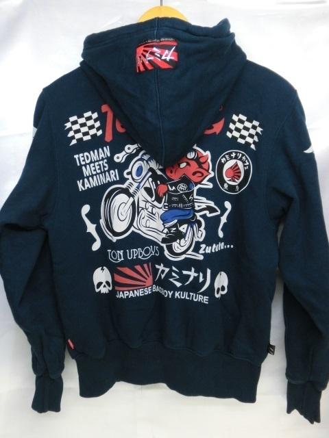 Ted Company テッドカンパニー ジップアップ スウェットパーカー ジャケット トップス サイズ38 紺 ネイビー_画像2