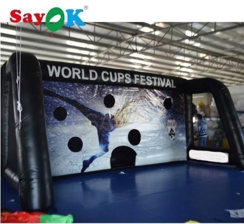 送料無料 エアーサッカーゴール 巨大 632.7m 電動送風機付き ポータブル イベント会場 商業施設 新品_画像2