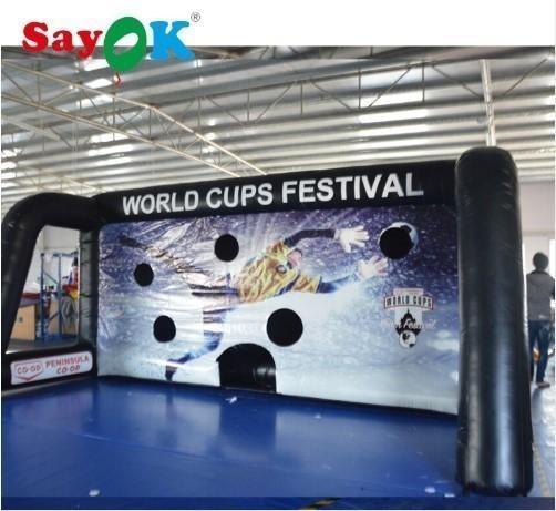 送料無料 エアーサッカーゴール 巨大 632.7m 電動送風機付き ポータブル イベント会場 商業施設 新品_画像1