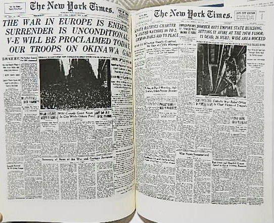 ☆洋書 The New York Times PAGE ONE COMMEMORATIVE EDITION 1896-1996 ニューヨークタイムズ1896-1996 一面縮刷集★_画像5
