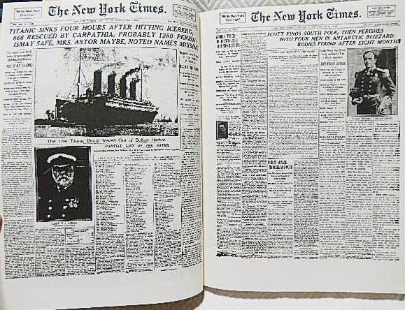 ☆洋書 The New York Times PAGE ONE COMMEMORATIVE EDITION 1896-1996 ニューヨークタイムズ1896-1996 一面縮刷集★_画像3