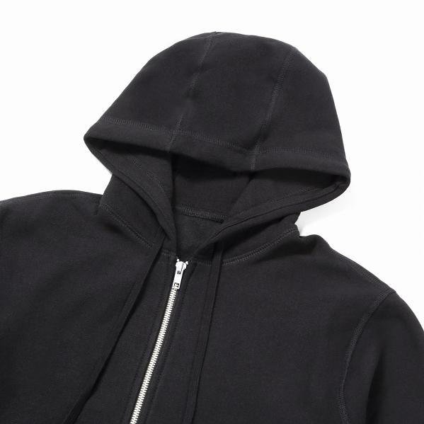 【サイズL】 カナダ製 無地 フルジップ スウェットパーカー ブラック Classic Hooded Zip Up 黒 メンズ 男性 プレーン MADE IN CANADA_画像2