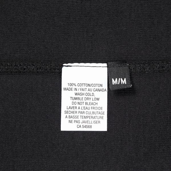 【サイズL】 カナダ製 無地 フルジップ スウェットパーカー ブラック Classic Hooded Zip Up 黒 メンズ 男性 プレーン MADE IN CANADA_画像8