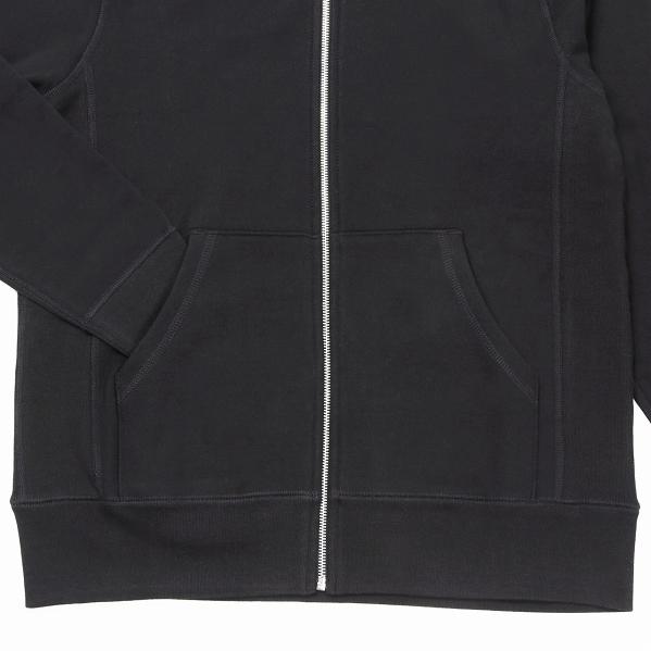 【サイズL】 カナダ製 無地 フルジップ スウェットパーカー ブラック Classic Hooded Zip Up 黒 メンズ 男性 プレーン MADE IN CANADA_画像4