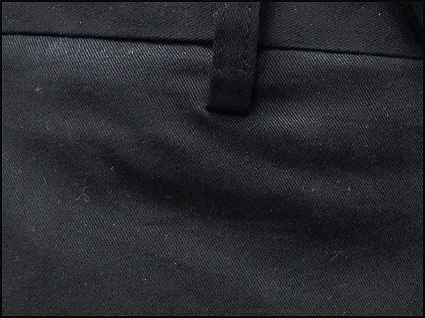 極細スリムノータック 綿パン 日本製 のびのび素材 秋冬春 黒 ウォッシャブル ビジカジパンツ WDP002-A ★73cm_画像5