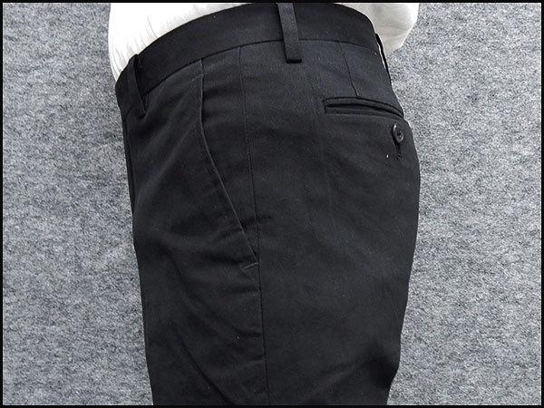 極細スリムノータック 綿パン 日本製 のびのび素材 秋冬春 黒 ウォッシャブル ビジカジパンツ WDP002-A ★73cm_画像4