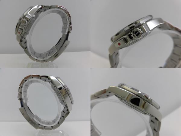 ●TAG HEUER タグホイヤー AQUARACER アクアレーサー アラーム メンズ クォーツ 腕時計 WAY111Z.BA0928 箱、余りコマ付き ★_画像4