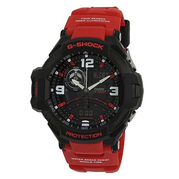 新品 即納 カシオ 時計 メンズ 腕時計 スカイコックピット アナデジ 多機能 ブラック レッド GA-1000-4B_カシオ 時計 メンズ アナデジ 多機能